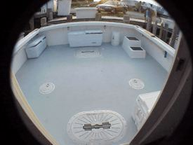 Huge cockpit on this charterboat