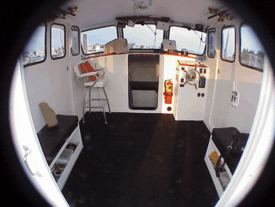 Wheelhouse of the charterboat